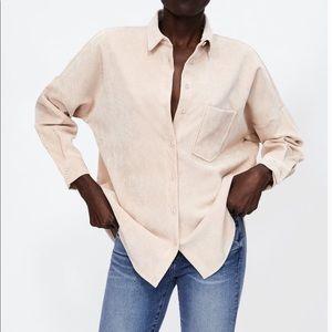 Zara Fine Corduroy Shirt